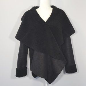 Romeo & Juliet Couture Black Suede/Sherpa Jacket